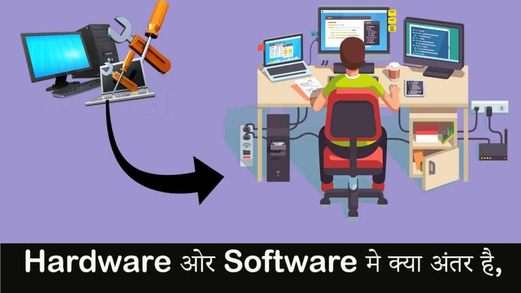 Hardware ओर Software मे क्या अंतर है